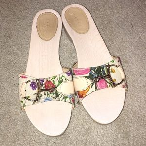 Gucci Floral Wooden Sandals